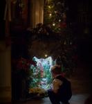 Рождественское поздравление детей на подворье Коневского монастыря