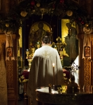 Крещение Господне на петербургском подворье Коневского монастыря