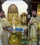Настоятель подворья Коневской обители в Петербурге поздравил с 40-летием настоятеля кафедрального собора Рождества Пресвятой Богородицы г. Приозерска