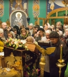 Наместник Коневской обители совершил молебен перед мощами прп.Арсения Коневского_12