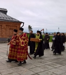 Завершилось пребывание мощей прп. Арсения Коневского на подворье_4