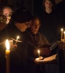 Чтение Великого покаянного канона преподобного Андрея Критского на подворье Коневского монастыря