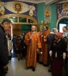 Божественную литургию Фоминой недели на петербургском подворье Коневской обители возглавил наместник монастыря