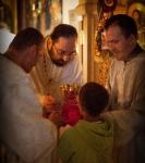 В праздник Рождества Иоанна Предтечи на петербургском подворье Коневского монастыря совершены праздничные богослужения._11