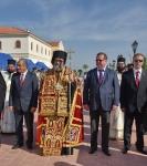 Настоятель петербургского подворья Коневской обители сослужил за Литургией в Андреевском храме г. Епископио