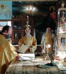 Настоятель петербургского подворья Коневской обители сослужил за Литургией в Андреевском храме г. Епископио _2