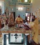 Настоятель петербургского подворья Коневской обители сослужил за Литургией в Андреевском храме г. Епископио _3