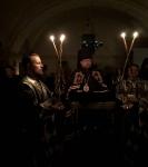 Настоятель петербургского подворья Коневской обители сослужил епископу Выборгскому и Приозерскому Игнатию за повечерием на Коневце