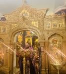 На петербургском подворье Коневской обители совершен чин изнесения Креста и иные уставные богослужения Недели Крестопоклонной_3