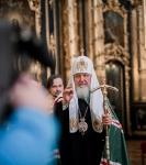 Святейший Патриарх Московский и Всея Руси Кирилл совершил Божественную литургию в день памяти святителя Николая.