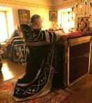 Настоятель петербургского подворья Коневской обители сослужил епископу Выборгскому и Приозерскому Игнатию за Литургией Преждеосвященных Даров на Коневце
