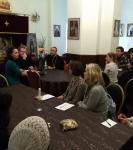 Епископ Выборгский и Приозерский Игнатий посетил петербургское подворье Коневской обители, проведя рабочее совещание и встретившись с экскурсоводами Паломнической службы