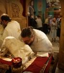 Петербургское подворье Коневского монастыря посетил настоятель собора в честь Всех русских святых на Кипре архимандрит Серафим (Кипрская автономная церковь)