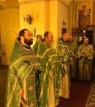 Настоятель петербургского подворья Коневского монастыря иеромонах Давид (Алексеев) сослужил Преосвященнейшему Игнатию за Литургией в день памяти преподобных Сергия и Германа Валаамских